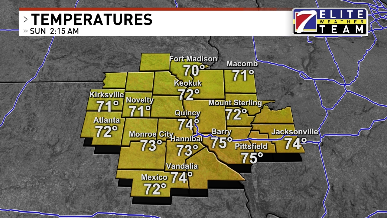 Quincy Weather News Weather Sports Breaking News KHQA - Current temperature map in us