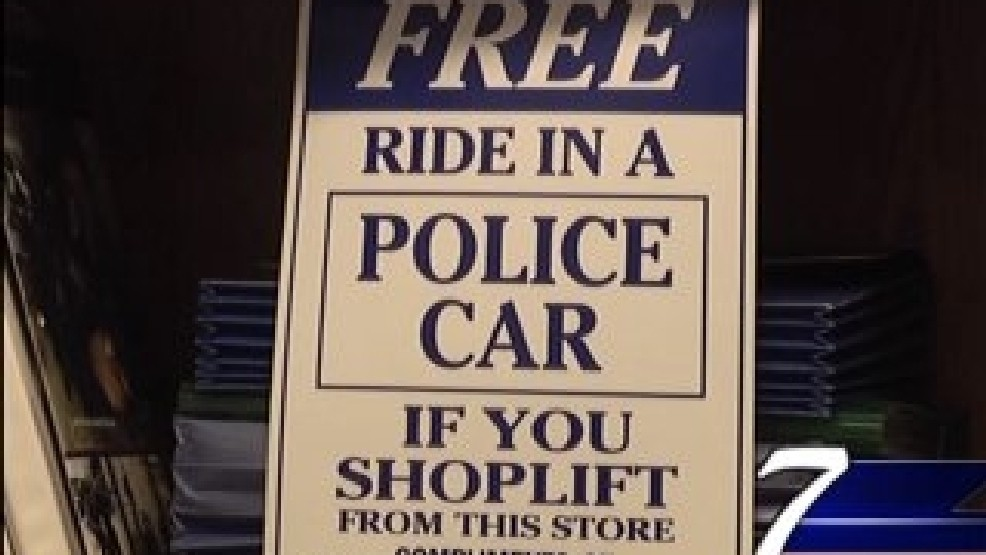 Signs to deter shoplifting in Hannibal businesses | KHQA
