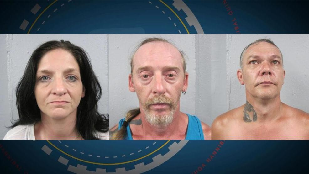 Three Hannibal residents arrested following search warrant