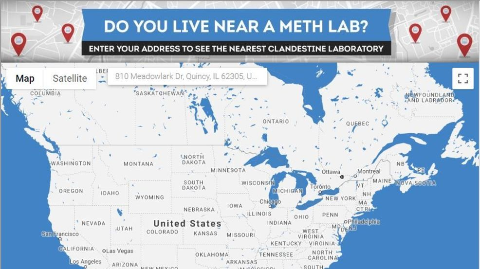 Do you live near a meth house? This interactive map will ... Satellite Map Of An Address on area view of address, satellite imagery, satellite maps of homes, satellite address finder, city map of an address, satellite maps of my house, satellite maps see my house, satellite satellite maps, satellite maps search, satellite maps of usa, satellite find your home, zoom in on an address, satellite address lookup, satellite mapping, satellite maps find address, satellite view, satellite house search, satellite zoom addresses, aerial view of property address, live view of my address,
